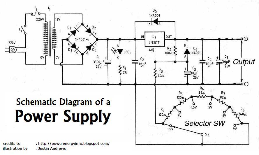 tattoo power supply schematic for wiring
