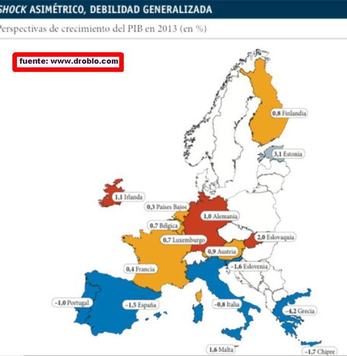 previsiones-pib-2013% - Previsiones PIB 2013 para la Europa de las diferencias