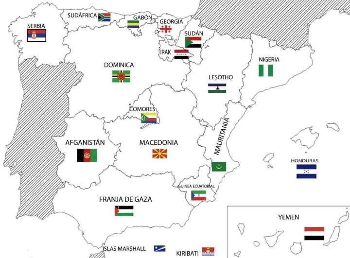 mapa-del-paro-abril-2013-si-las-ccaa-fuesen-paises-720x531% - El paro en España si las CCAA fuesen paises