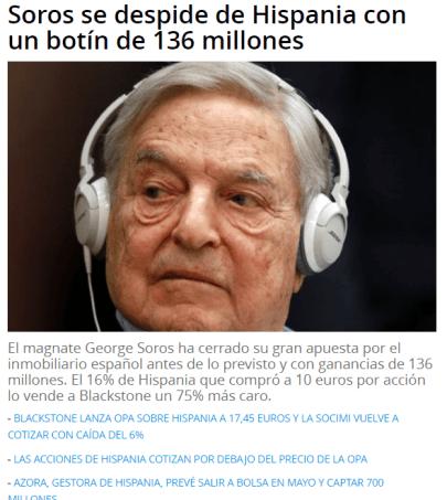 SOROS-HISPANIA% - Soros: opón y compra nueva