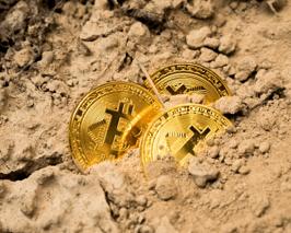 bitcoins-enterrados% - Bitcoin, ¿el halving afecta su precio?