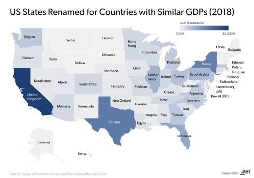 PIB-EQUIVALENTE-EEUU-VS-MUNDO% - Comparación PIB de cada estado de EEUU con PIB de otras economías