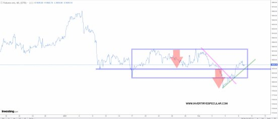 ORO-HORARIO-10-FEBRERO-2021% - El dólar y el oro invierten papeles a corto plazo