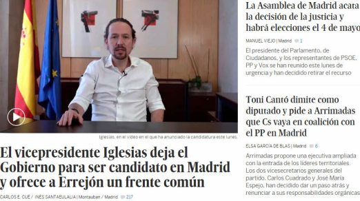 IGLESIAS-A-MADRID% - Arde Madrid ¡¡Bommmmmmmmmmbaaaaaaa informativaaaaaaaaaa¡¡