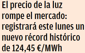 12445-euros-megawatio-hora% - Ojo, que aún se esperan precios más altos de aquí a final de año