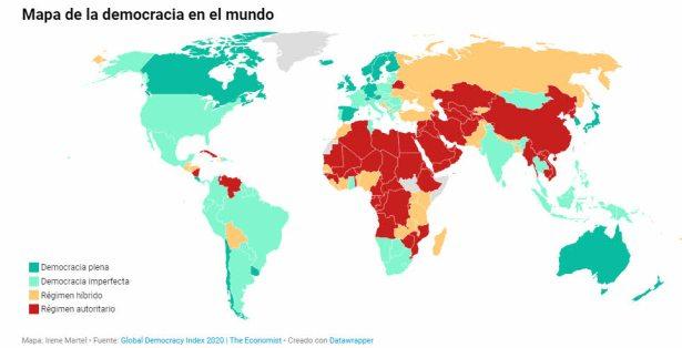 mapa-de-la-democracia-en-el-mundo% - Humor salmón 13 de agosto