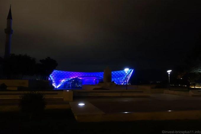 アゼルバイジャン フレームタワーズ近くの公園
