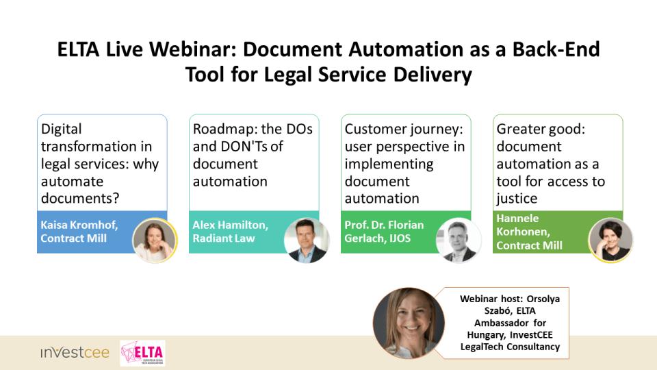Document Automation Webinar ELTA live