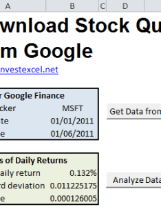 Stock quote parameters also google finance quotes in excel rh investexcel