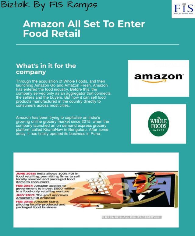 Amazon stepping into food retail – InvestGrip