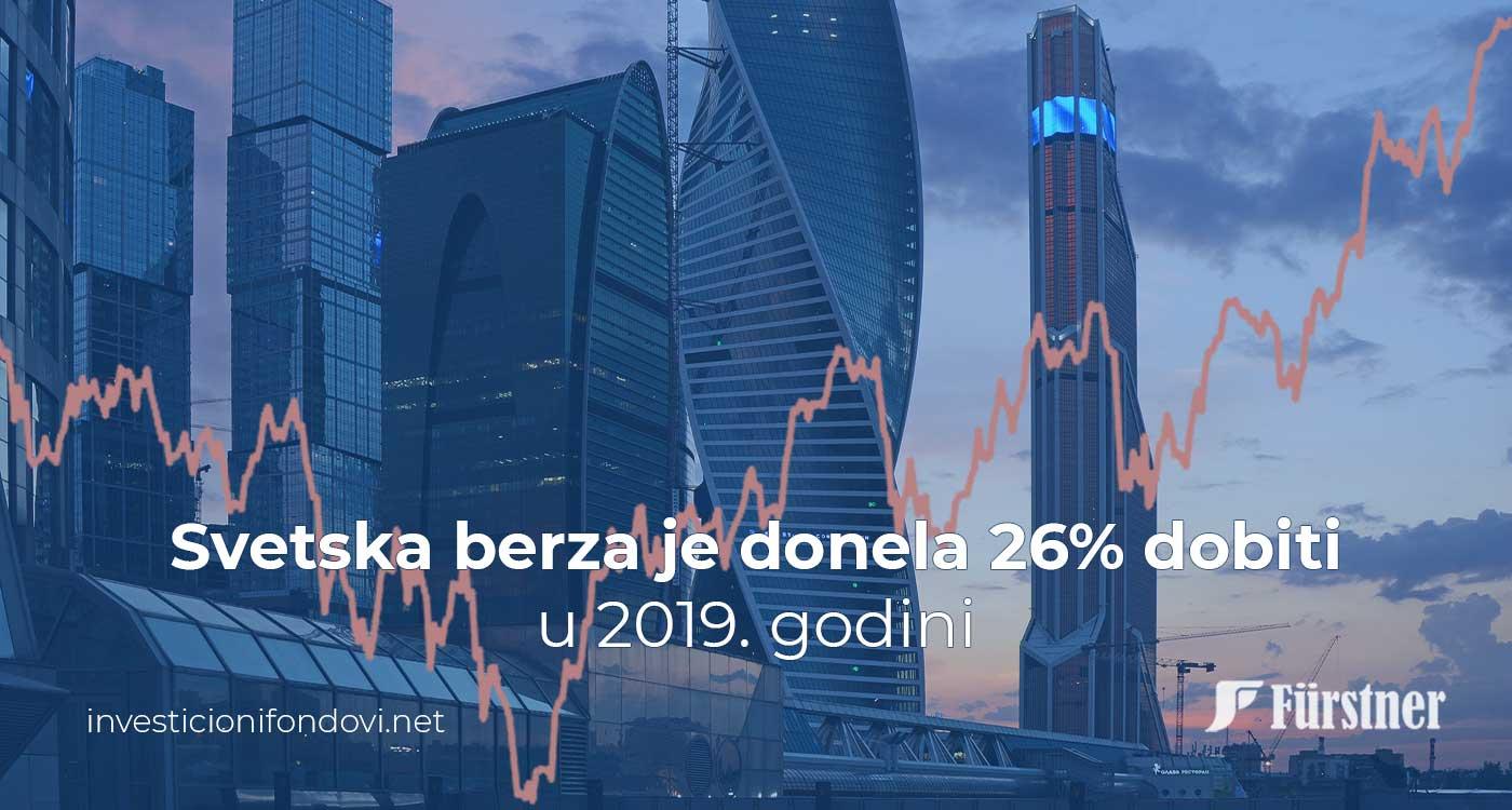 Svetska berza je donela 26% dobiti u 2019. godini