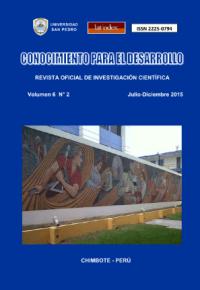 Revista Conocimiento para el Desarrollo V°6N°2 – Chimbote 2015