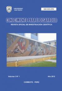 Revista Conocimiento para el Desarrollo V°3N°1 – Chimbote 2012