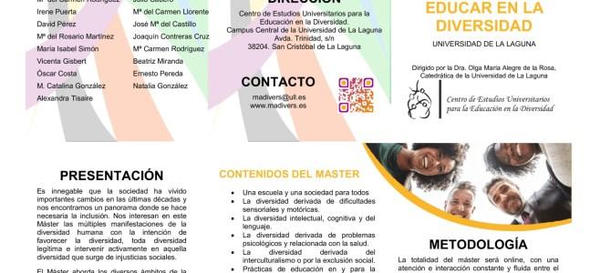 MÁSTER UNIVERSITARIO EDUCAR EN LA DIVERSIDAD