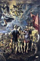 El Greco: San Mauricio y la Legión Tebana. Monasterio de El Escorial.