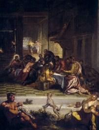 """Diego de Silva Velázquez: """"La Última Cena"""", copia del orginal de Tintoretto. Madrid, Real Academia de Bellas Artes de San Fernando."""