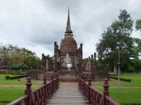 Vista de Wat Sa Si, Sukhothai