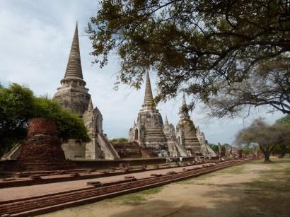Vista de Wat Phra Si Sanphet, Ayutthaya