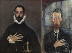 El caballero de la mano en el pecho / Paul Alexandre ante una vidriera