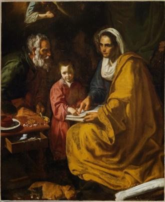 Atribuido a Diego Velázquez: La educación de la Virgen. Yale University Art Gallery.
