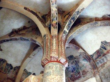 Restos de decoración al fresco en la Palmera en la propia ermita