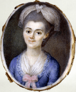Genaro Botri, atribuído: Retrato femenino, ca. 1780. Gouache sobre marfil. Museo Lázaro Galdiano.