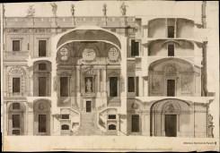 Anónimo español: Proyecto para la escalera del Palacio Real Nuevo, 1742. Real Academia de Bellas Artes de San Fernando, Madrid.