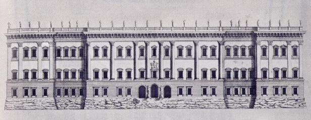 Gian Lorenzo Bernini: Tercer proyecto para el Louvre, ca. 1665. Metropolitan Museum, New York.
