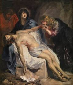Anton Van Dyck: Lamentación sobre Cristo muerto. Museo Nacional del Prado, Madrid.
