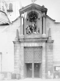 Vista de la portada de la desaparecida Iglesia de San Sebastián.
