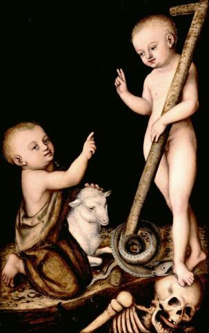 Lucas Cranach: Cristo triunfante sobre la muerte y el pecado. Museo Lázaro Galdiano, Madrid.