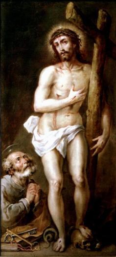 Anónimo: Cristo de los Dolores con San Pedro arrepentido. Museo Lázaro Galdiano, Madrid.