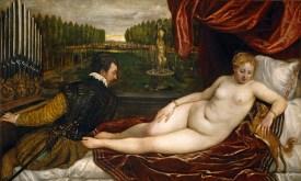 Tiziano Vecellio: Venus entre el amor y la música. Madrid, Museo Nacional del Prado.