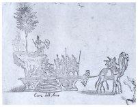 Giulio Parigi y Jacques Callot: Detalle, Carroza de Asia.