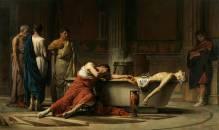 """M. Domínguez. """"la muerte de Séneca"""". 1871 Museo del Prado"""