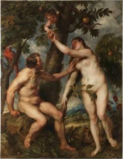 Pedro Pablo Rubens, copia de Tiziano: Adán y Eva. Madrid, Museo Nacional del Prado.
