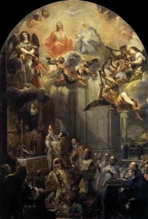 Juan Carreño de Miranda: La misa de San Juan de la Mata. París, Museo del Louvre.