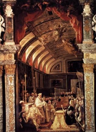 Clauido Coello: La Sagrada Forma. Monasterio de San Lorenzo el Real de El Escorial.