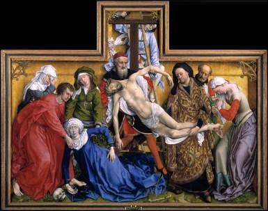 Rogier van der Weyden. El descendimiento de Cristo. Antes de 1443. Museo del Prado