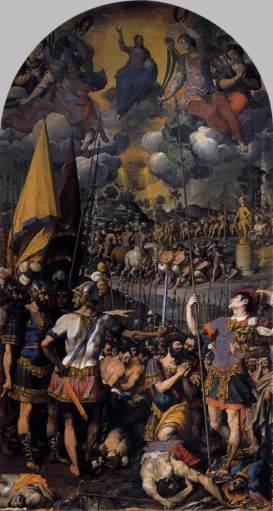CINCINNATO, Romulo, Martirio de S. Mauricio1583, 540 x 288 cmMonasterio de San Lorenzo, El Escorial