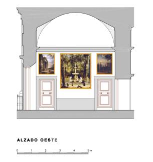 """Testero Oeste del """"Salón"""" o Galería de Paisajes de Aranjuez."""