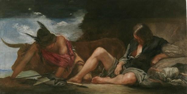 Diego Rodríguez de Silva y Velázquez: Mercurio y Argos. Madrid, Museo Nacional del Prado
