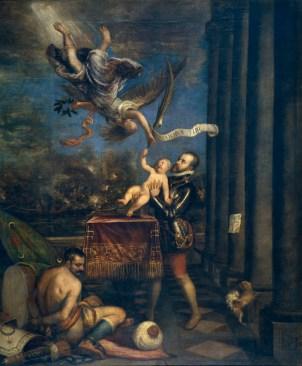 Tiziano: Felipe II ofreciendo al cielo al infante don Fernando. Madrid, Museo Nacional del Prado.