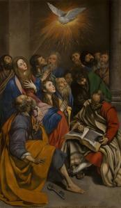 Juan Bautista Maíno: Pentecostés. 1611-13. Museo del Prado. Procedente del Retablo de las Cuatro Pascuas del convento dominico de San Pedro Mártir de Toledo.