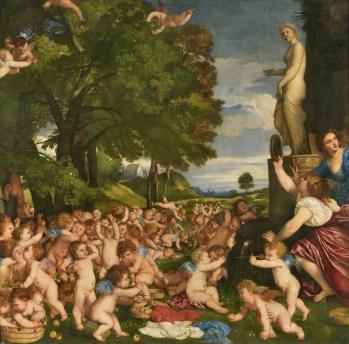 Tiziano: Ofrenda a Venus. Madrid, Museo Nacional del Prado.