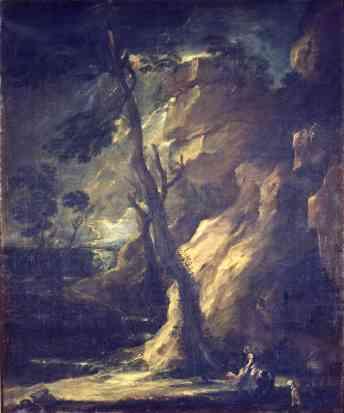 Benito Manuel de Agüero: Dido y Eneas bajo la tempestad. Madrid, Museo Nacional del Prado.