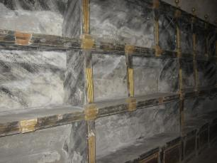 Antiguo panteón de infantes (detalle de los nichos). Monasterio del Escorial. Foto: Cipripedia.