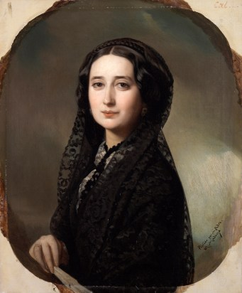 Federico de Madrazo?: Retrato de Carolina Coronado. Museo Nacional del Prado.