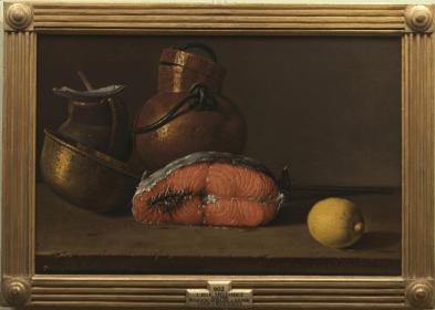 Luis Meléndez: Bodegón de pescado y cacharros. Museo Nacional del Prado.