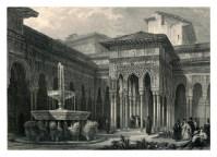 David Roberts: Patio de los leones de la Alhambra. 1835.